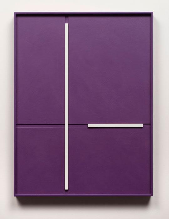 John Pittman, #178 - Lenten , 2010, alkyd on wood relief 20 x 15 x 1.5 in
