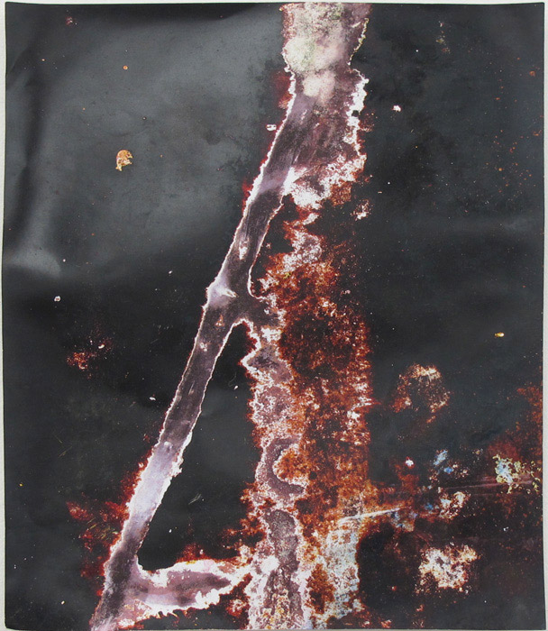 Ryan Foerster,  Untitled,  2012, corroded C-print, 14 x 11 in