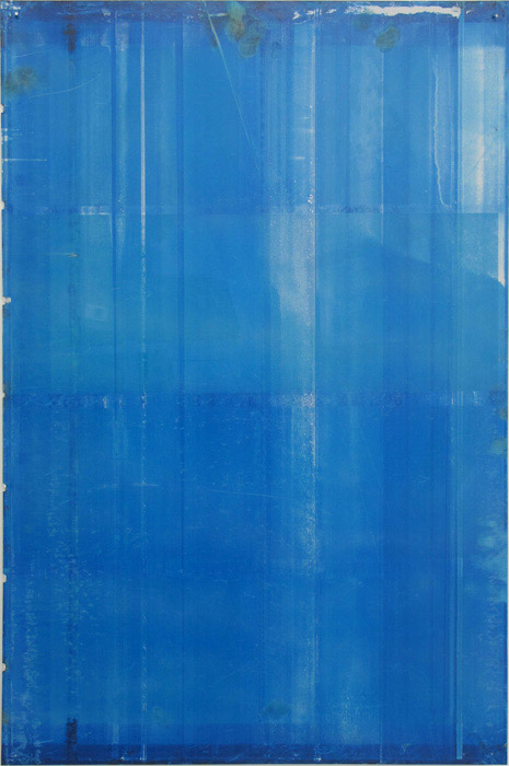 Ryan Foerster,  Miami Blue - printing plate , 2012, aluminum printing plate, 35 x 23 in