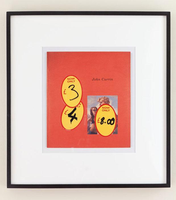 Matthew Higgs, Photograph of a book ('JOHN CURRIN') , 1999, C-print 16.5 x 14.75 in