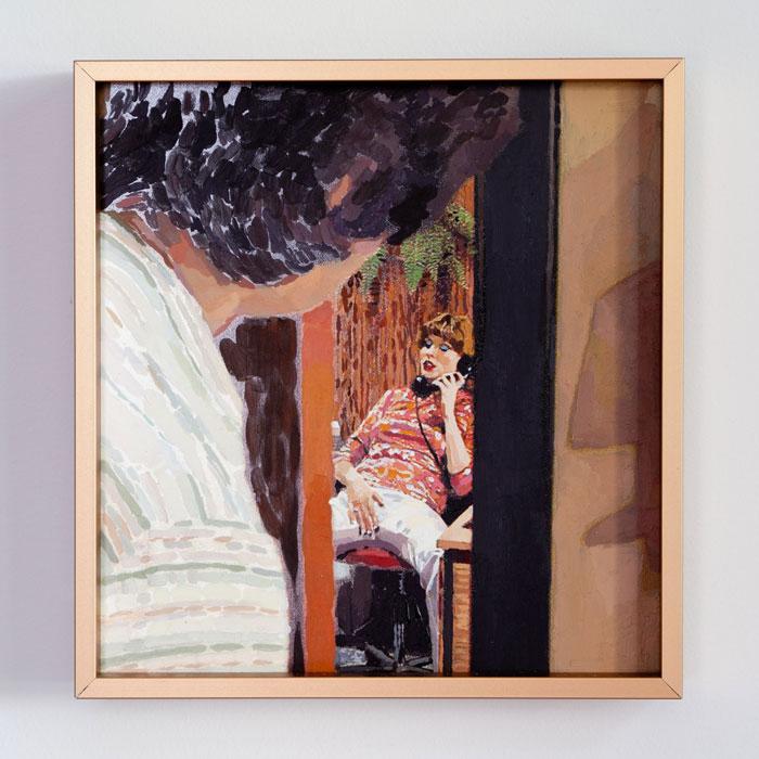 Aura Rosenberg, The Golden Age,Unititled (Office Voyeur) ,2012,inkjet print, acrylic paint, 6.5 x 6 in