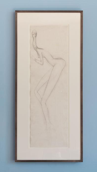 E'wao Kagoshima, Untitled , 1970, graphite on paper, 25 x 5 in