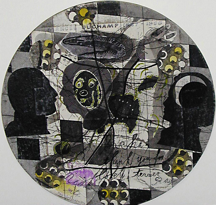 Ray Johnson, Untitled , 1979,collage on cardboard panel,12.5 x 12.5 in