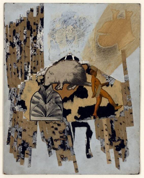 Ray Johnson, Walking Man , 1958,collage, 9.4 X 7. 4 in