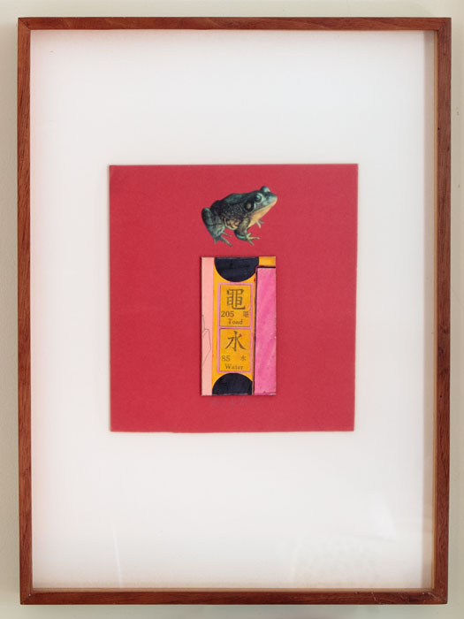 Ray Johnson, Untitled (Toad/Water) , 1958, collage,7.75 X 7.4 in
