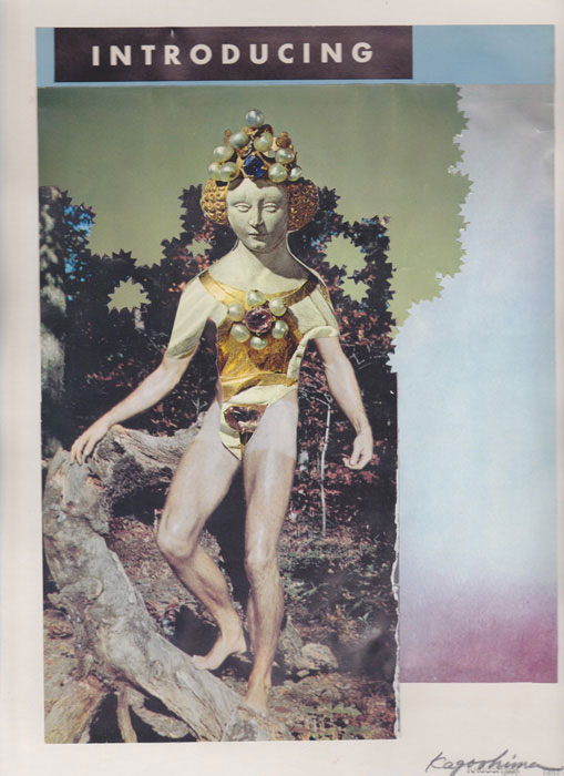 E'wao Kagoshima, Untitled , 1980, collage on paper, 12 x 9 in