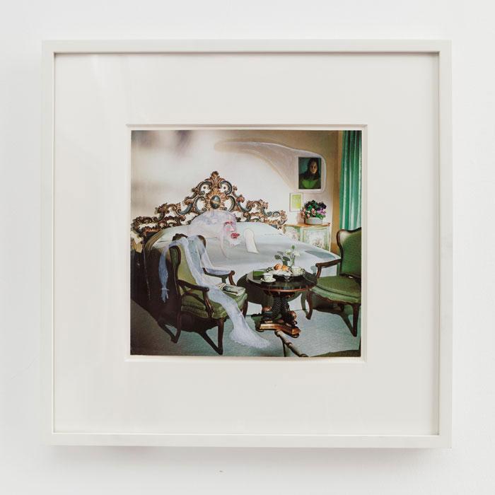 E'wao Kagoshima, Untitled,  1976, oil on paper,9 x 9 in