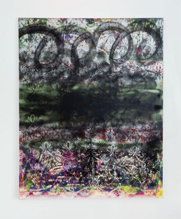 Tamara Gonzales, Benevolent Maelstrom , 2010, spray paint on canvas,60 x 48 in