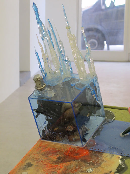 Justin Lieberman,  My Friend  (detail), 2012 mixed media, 30 x 26 x 28 in