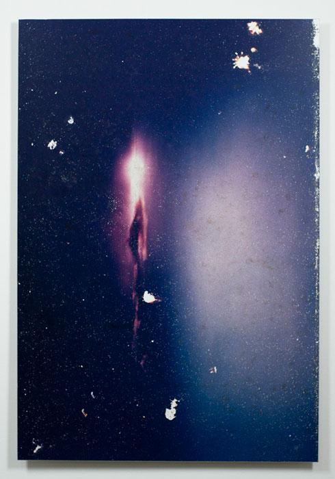 Ryan Foerster, Universe/Julie night swim , 2009-2011, C-print, aluminum, wood,40 x 27 in