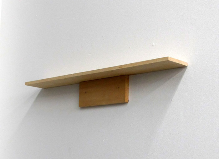 Bozidar Brazda,  Shelf 2,  2011, basswood, wood filler, nails, 3.25 x 24 x 3 in