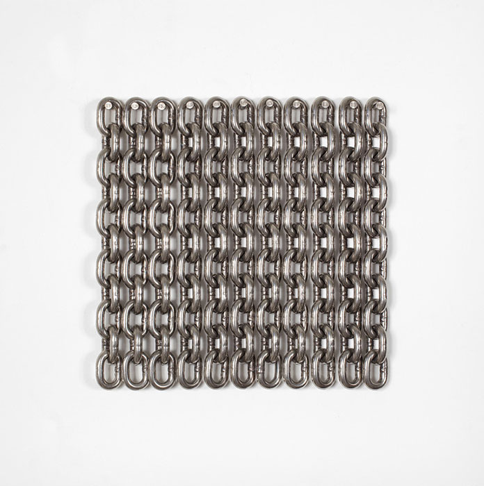 Davina Semo,  I'VE STILL GOT THE DEATH IN ME,  2011, stainless steel chain, 12 x 12 in
