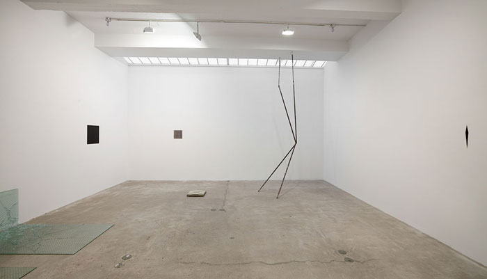 Installation view,  WE BEGIN WITH THE NOISE,  Martos Gallery, New York, 2011