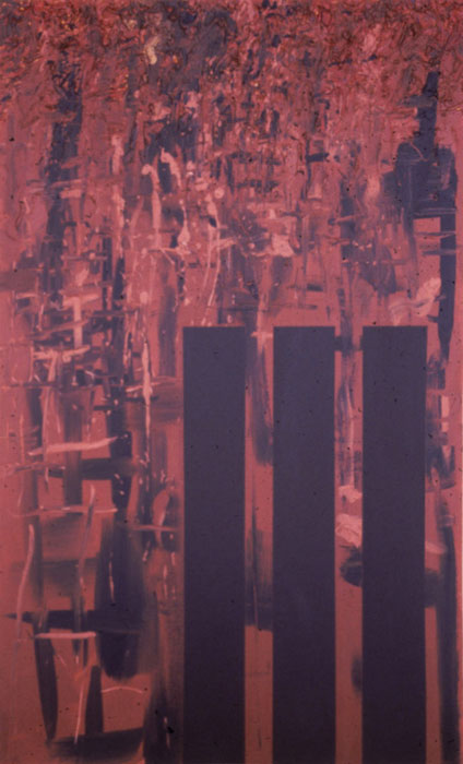 John Miller,  Untitled , 1985, acrylic on canvas, 60 x 36 in