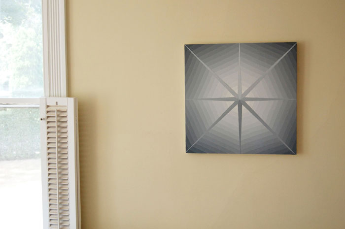 David Malek, Spider Star , 2010, Enamel on panel, 20 x 20 in