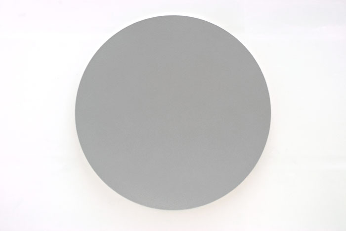 Olivier Mosset, Untitled (Silver Circle) , 2010, Polyurethane on canvas, 72 in diameter