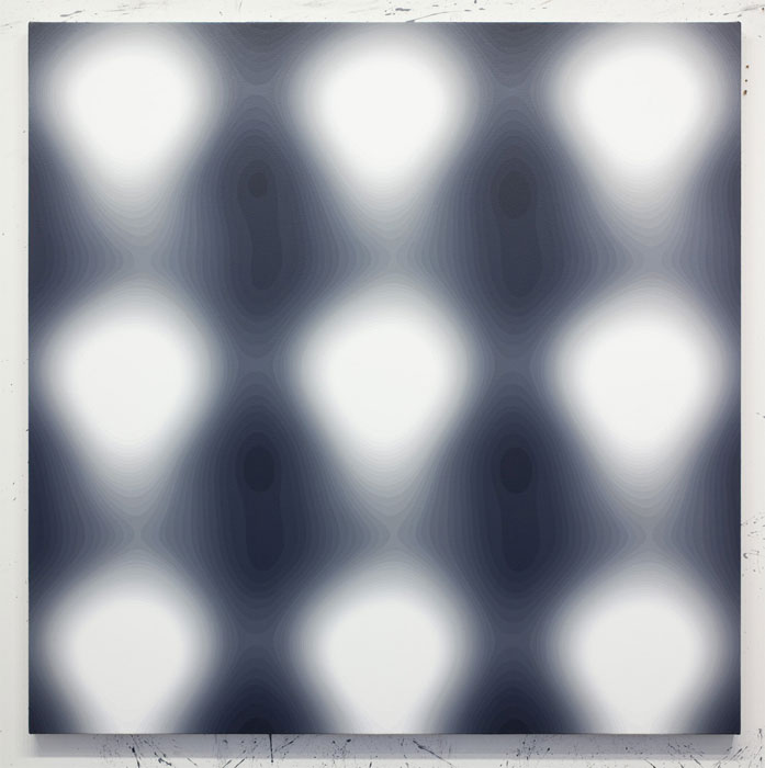 Wayne Gonzales, Untitled , 2010,Acrylic on canvas,42 x 42 in