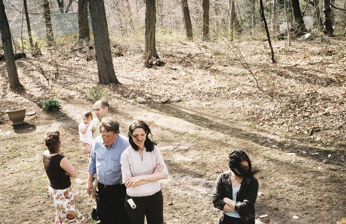 Stephanie Diamond, Things to Remember (Margie's Backyard. Fresh air before a 20 person seder) , 2008, C-Print,30 x 40 in