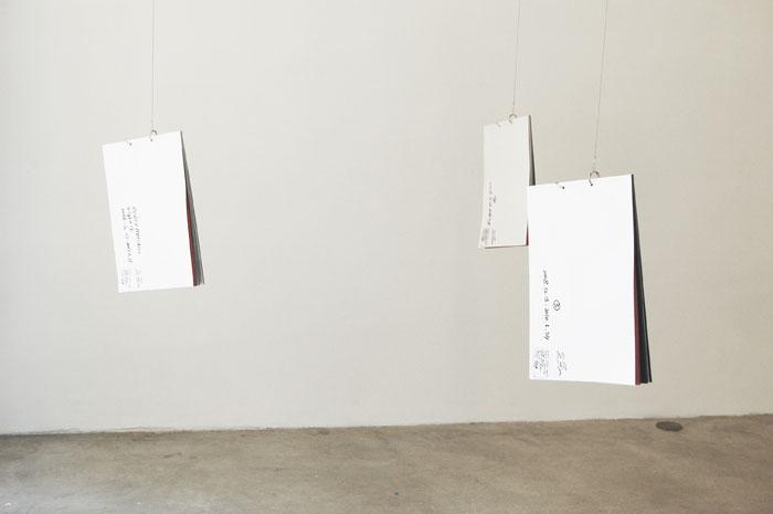 Masaya Chiba, EMN (Every Monday Night) ,2006 –2010, 3 Binding books of photocopies of drawings,11.6 x 8.6 in each