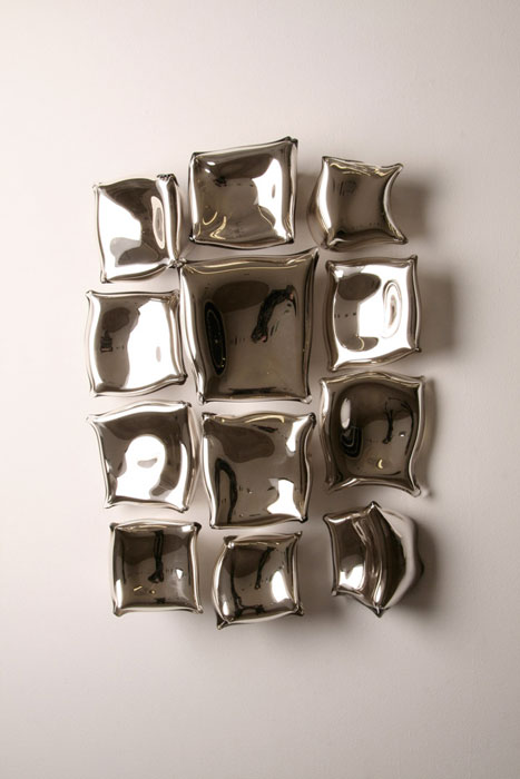 Graham Caldwell,  Untitled , 2010, Blown and silvered glass, 26 x 18 x 6 in