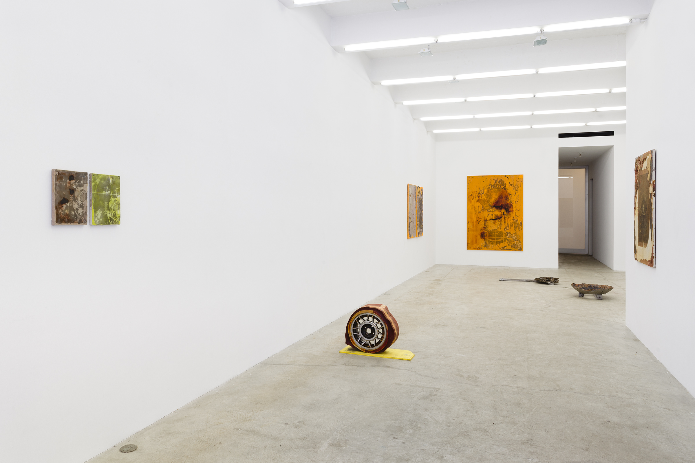Installation view, I drive and I think and I look, but I don't know. Lanquidity , Martos Gallery, New York,2015