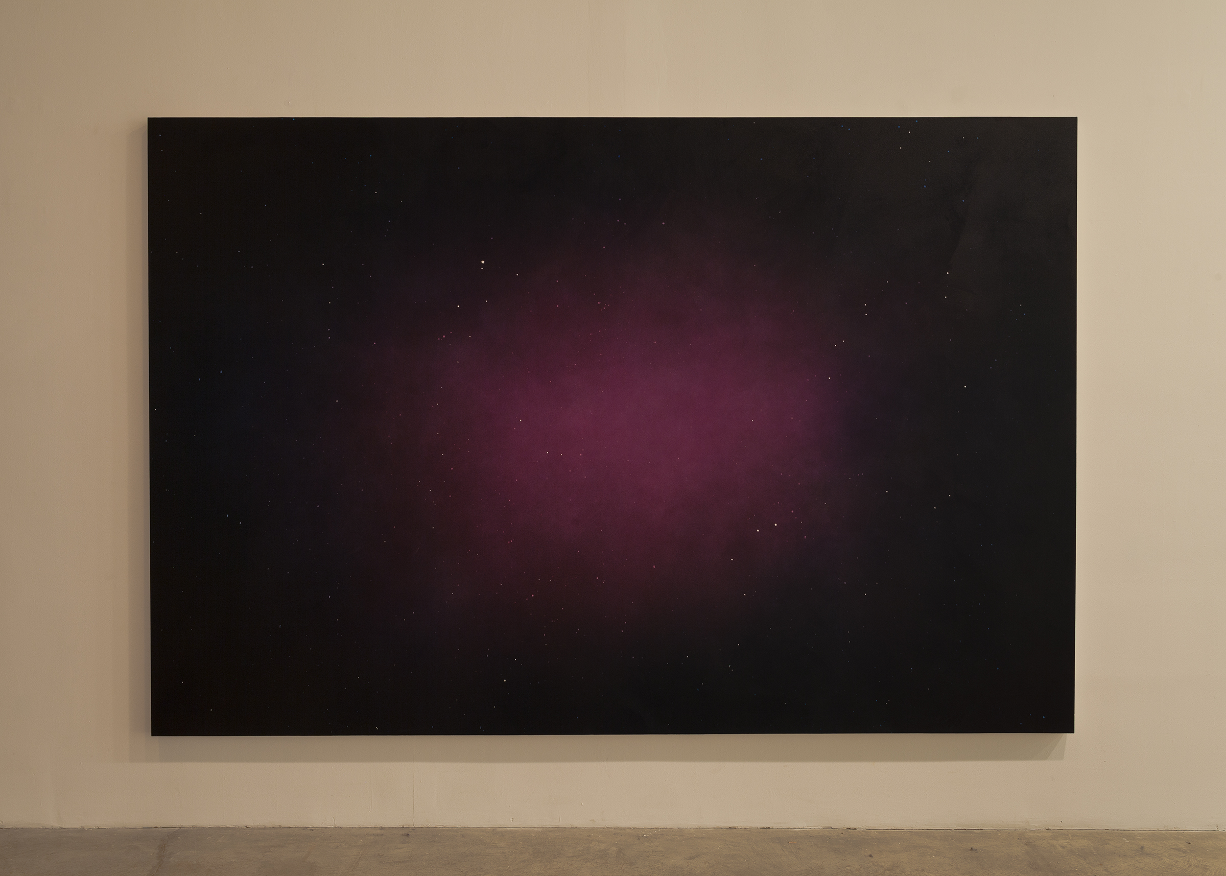 Lazaros,  (α 0° / δ 0°) , 2015, airbrushed acrylic on canvas, 74 x 111 in