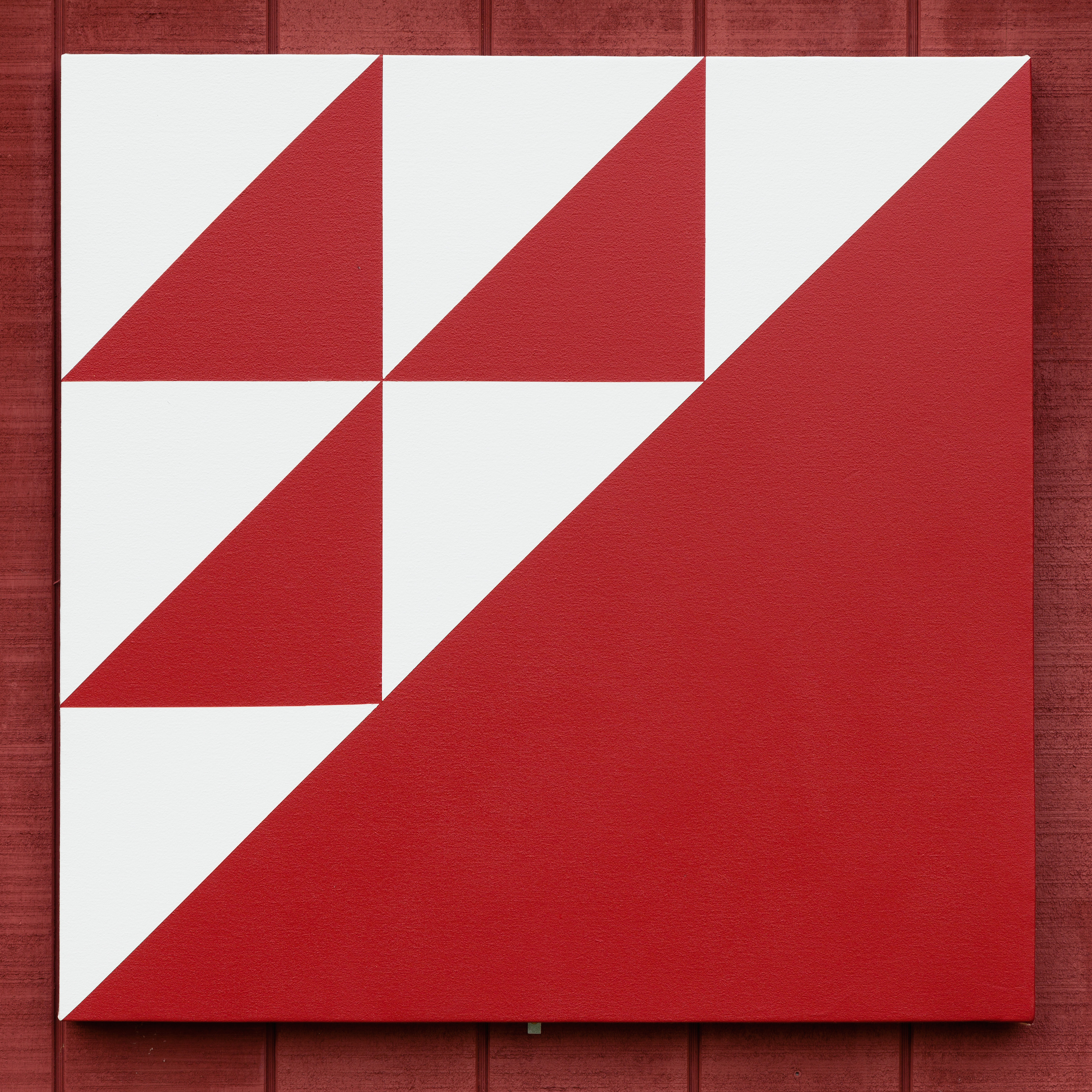 Lazaros,    Quilt Block Painting Number 5   , 2014, acrylic on canvas, 35.75 x 35.75 in