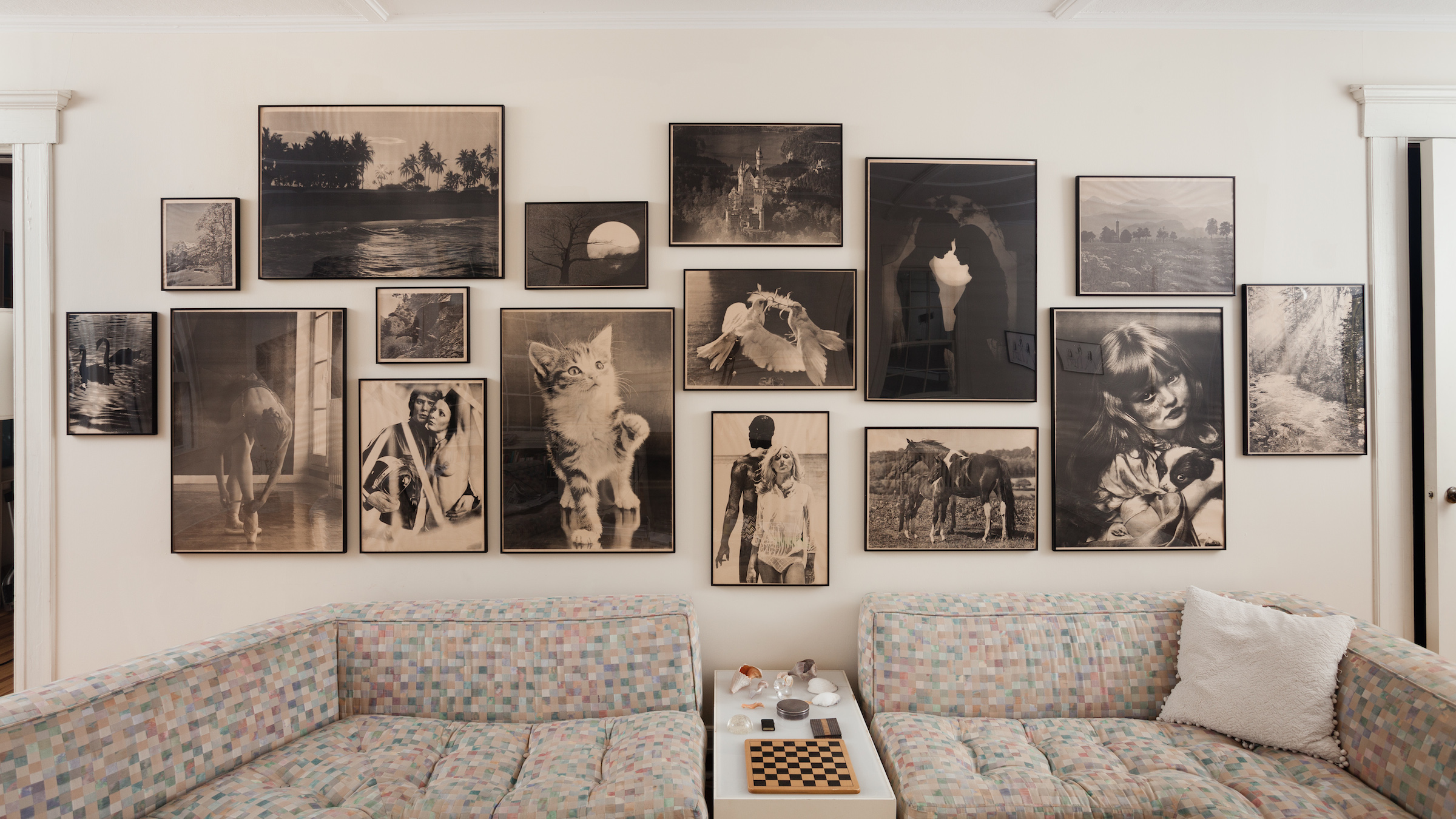 Hans Peter Feldmann,  Sonntagsbilder (Sunday Images)   , 1976-77, set of 16 screenprints from portfolio of 21, 5 largest: 24.25 x 34.25 in; 2 smallest 13 x 10.25 in