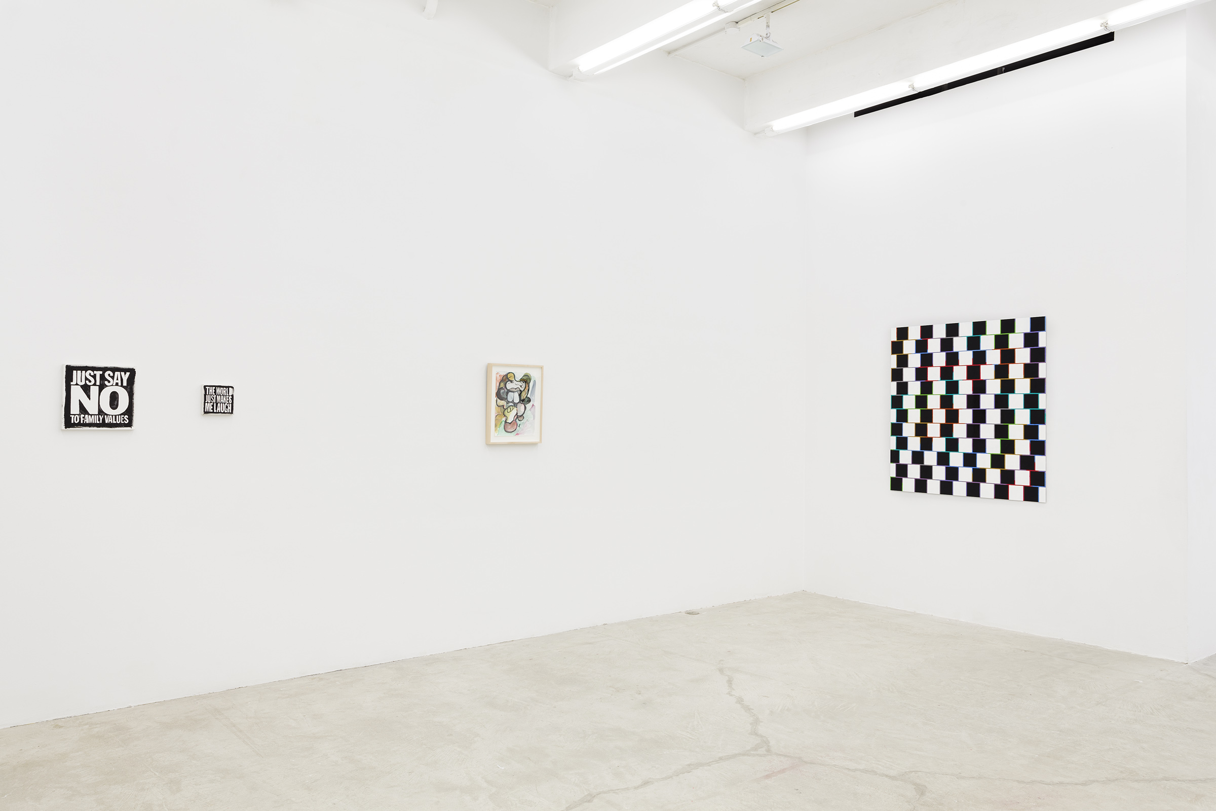 Installation view, Every day in every way I'm freely opening my senses to the beauty in myself and opening up to all the beauty around me and in all the people I will encounter , Martos Gallery, New York, 2014