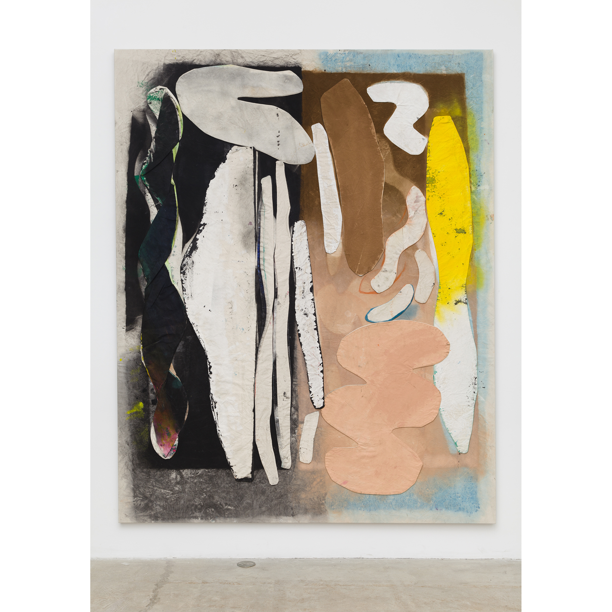 Jess Fuller, She Has Transcendental Style , 2014,acrylic, fabric dye and gesso on canvas,104 x 83 in