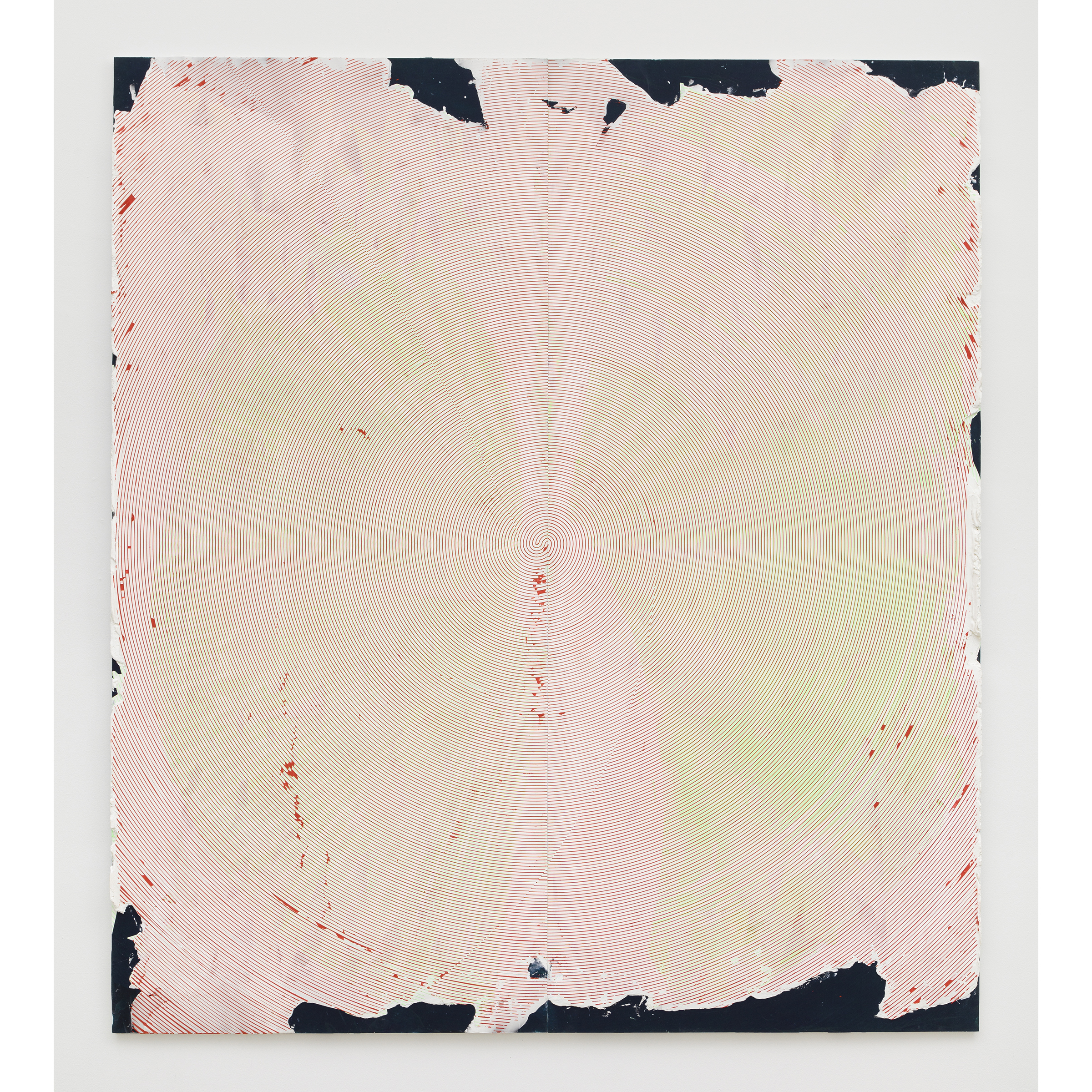 Nicolas Roggy,  Untitled , 2014, primer, modeling paste, pigment, acrylic paint on PVC, 92.9 x 82.7 x 1 in