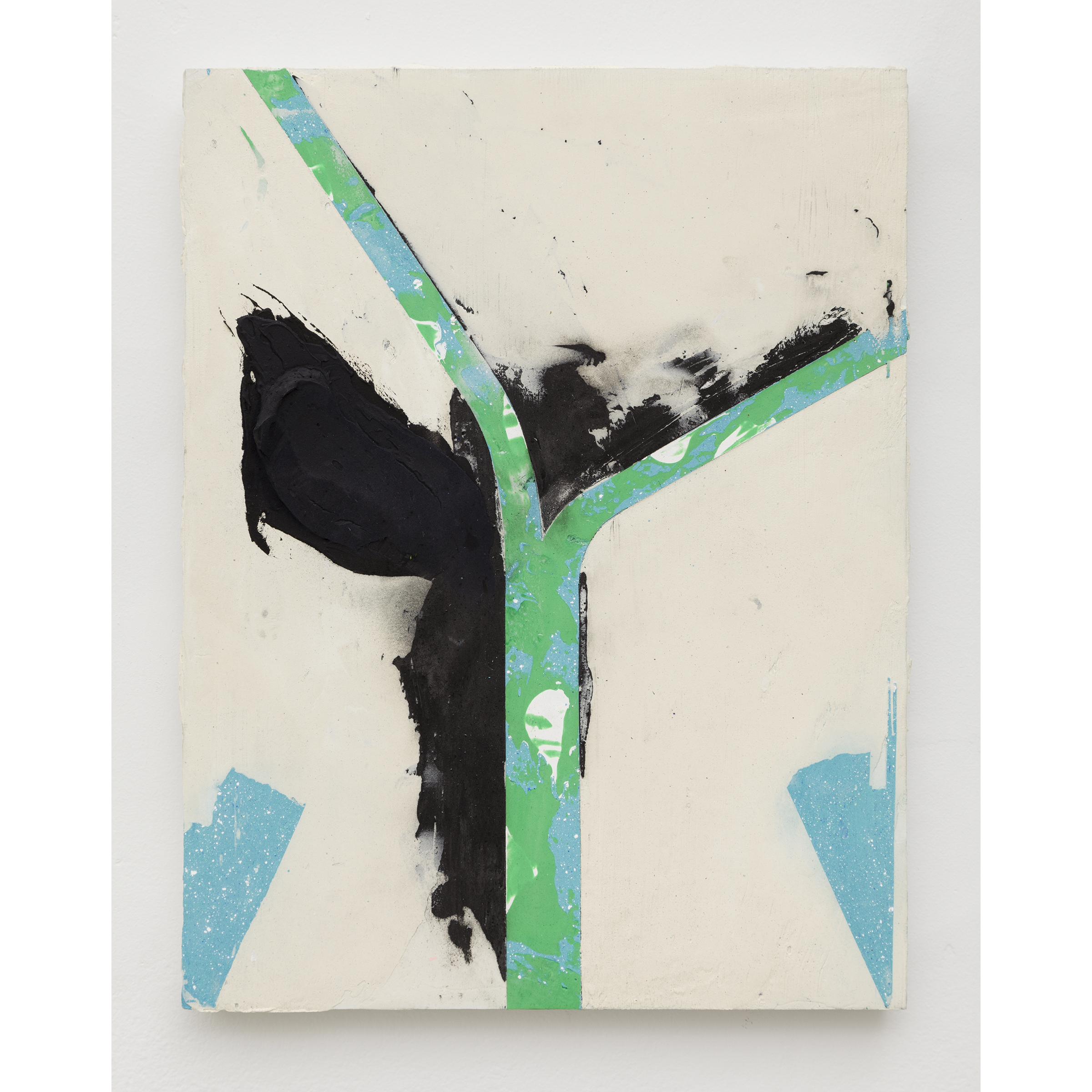 Nicolas Roggy, Untitled , 2014,primer, modeling paste, pigment,acrylic paint on PVC,11.8 x 15.3 x 0.7 in