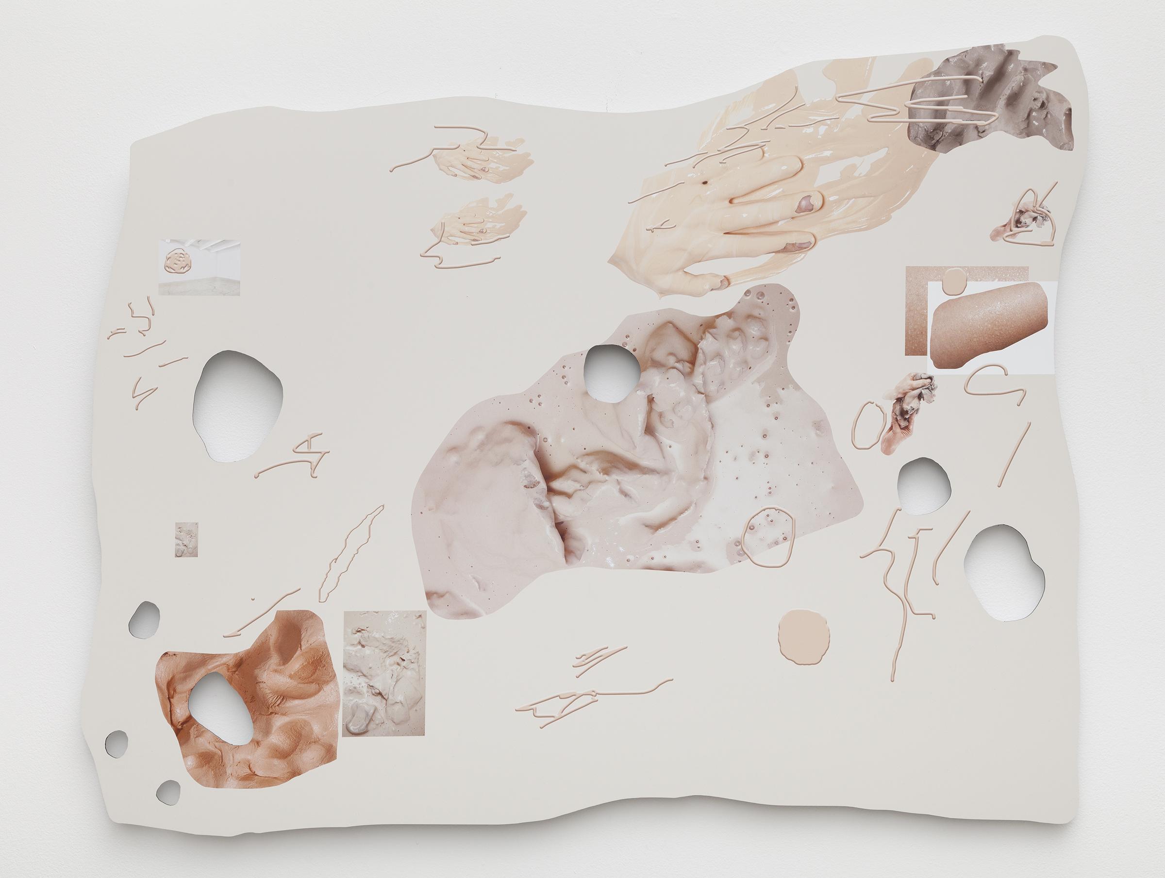 Rachel De Joode, Drawing or flowy conglomeration. Hey! VII , 2015,archival inkjet print on Dibond,31.5 x 39 in