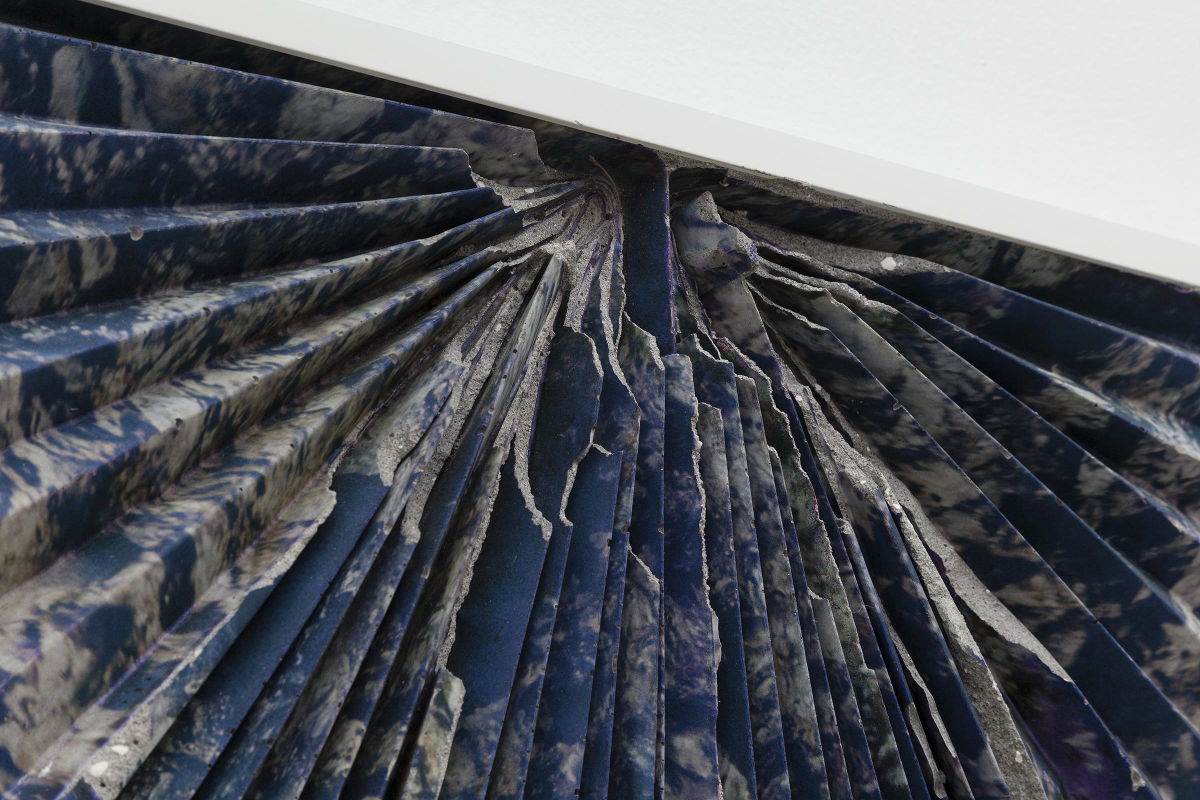 Letha Wilson, Lava Concrete Ripple  (detail), 2015,concrete, emulsion transfer, aluminum frame,24.375 x 28.375 x 1.5 in