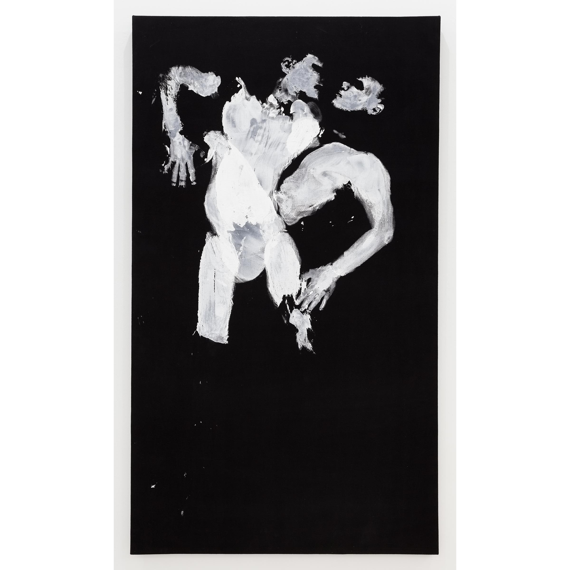 Aura Rosenberg, Pisces (Matt and Alex) , 2012, acrylic paint on black velvet, 84 x 48 in