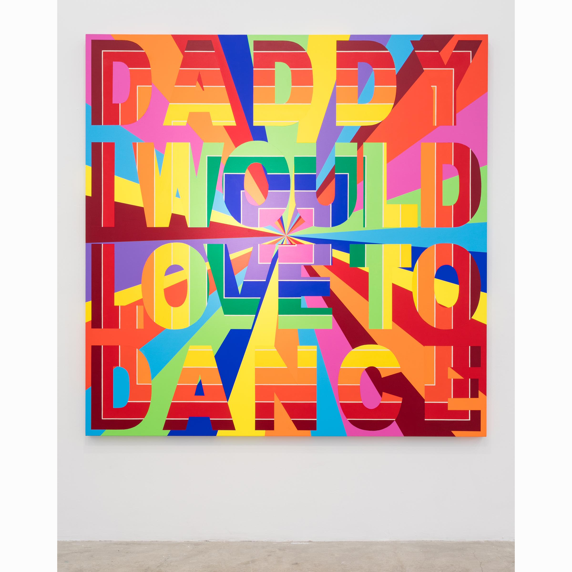 Deborah Kass, Daddy , 2008,acrylic on canvas,78 x 78 in,Courtesy the Artist and Paul Kasmin Gallery, New York