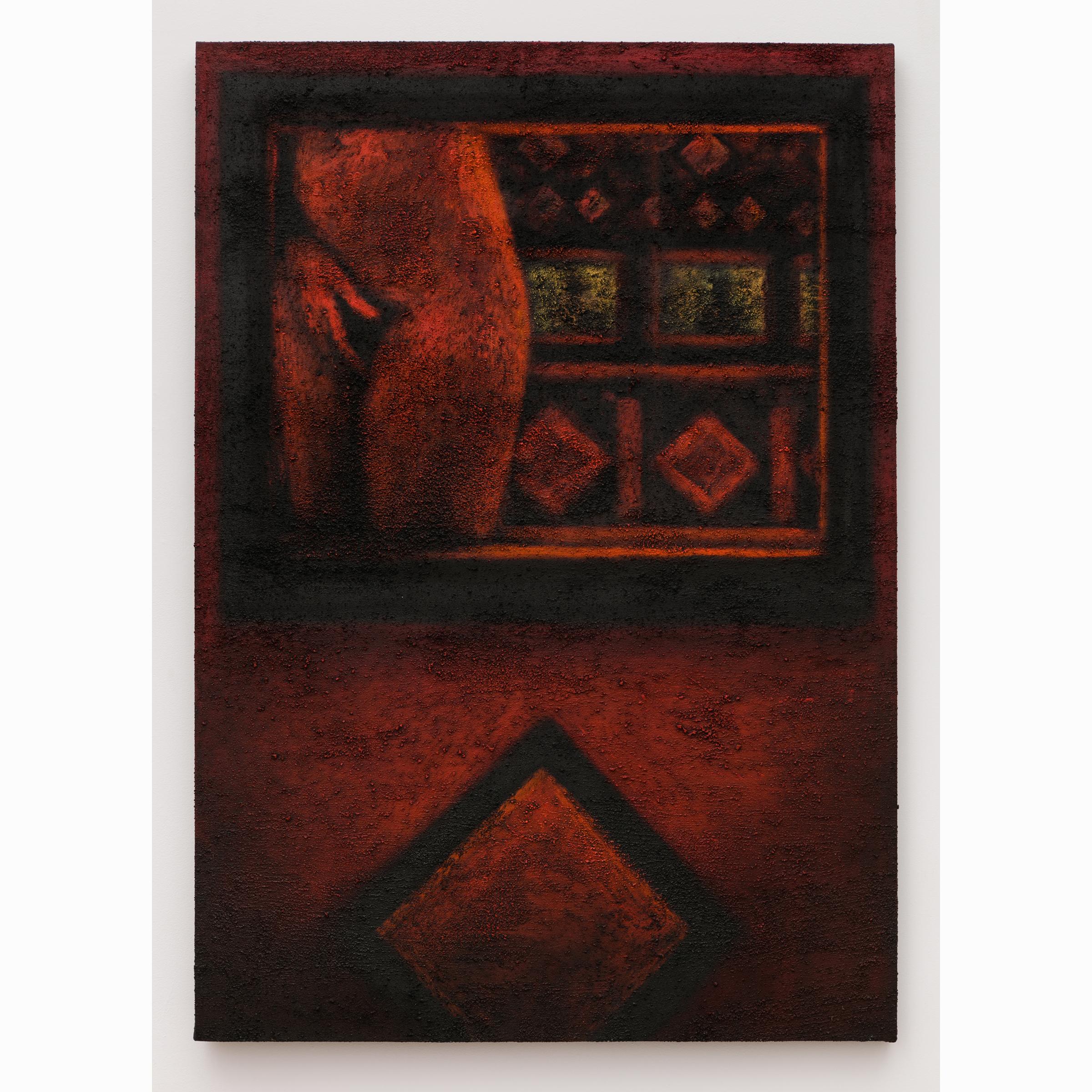 Jane Dickson, Peep 2 , 1992-1996,oil pummice on canvas,57 x 40 in,Courtesy the Artist