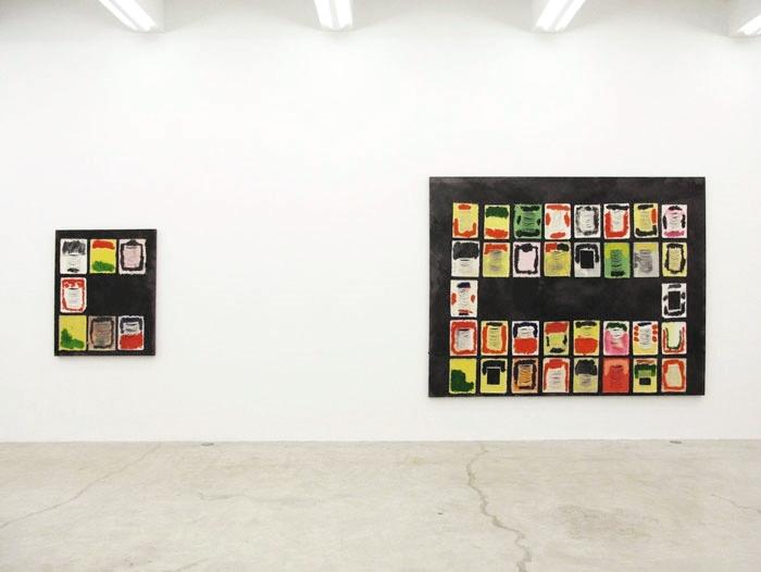 Installation view, Jellie , Martos Gallery, New York, 2012