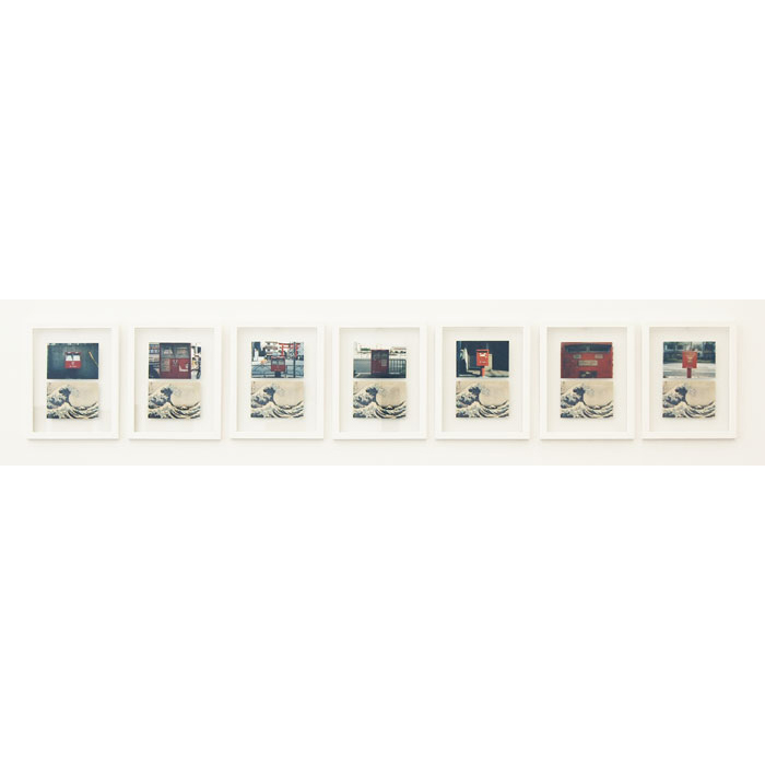 Guillaume Leingre, 216 TIMES HOKUSAI , 2008,7 extracts from a series of 216 postcards, 216 photos, 13.25 x 10.5 in each