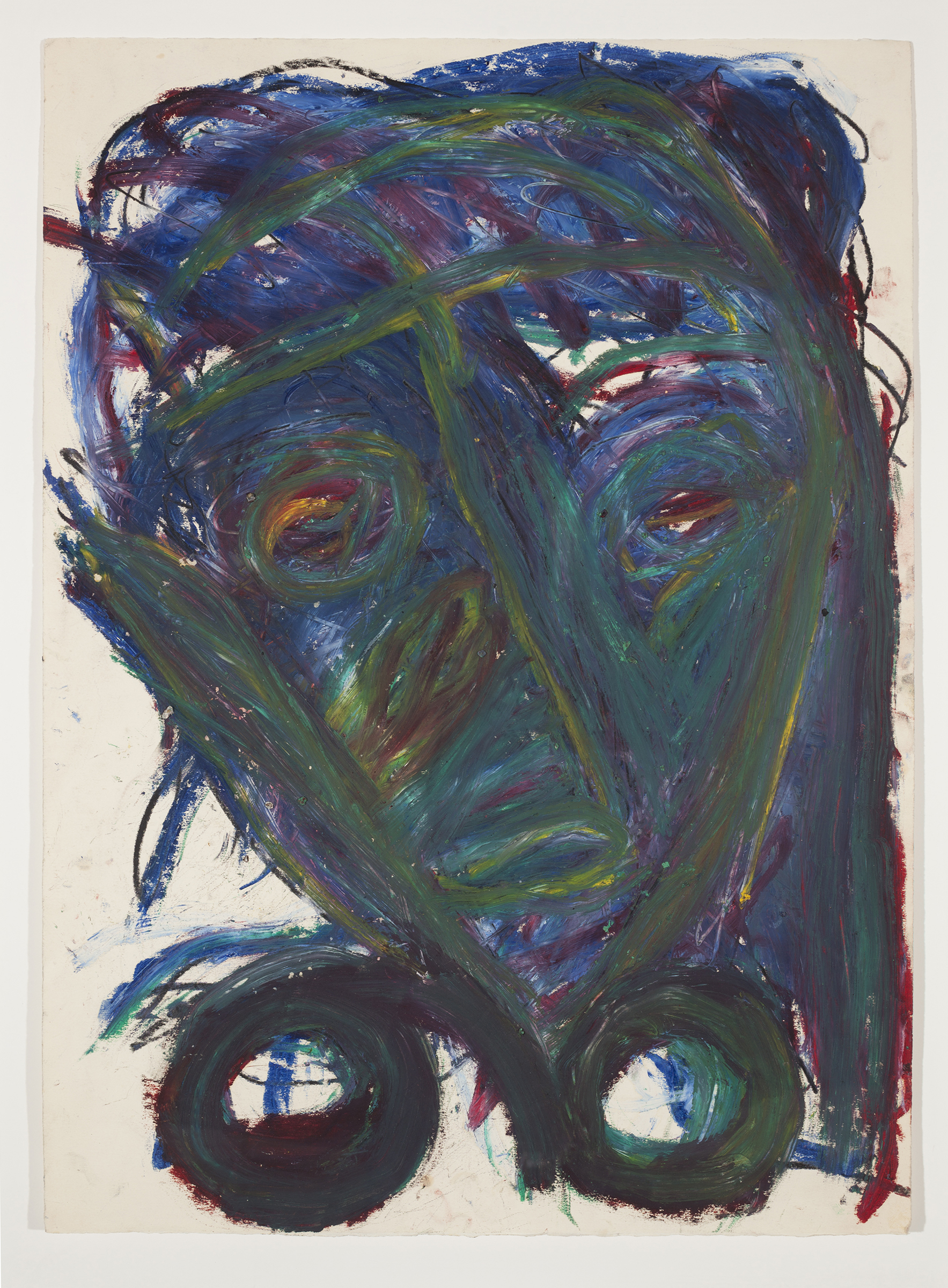 Dan Asher,  Untitled,  1980s, oil stick on paper, 25.875 x 18.875 in.