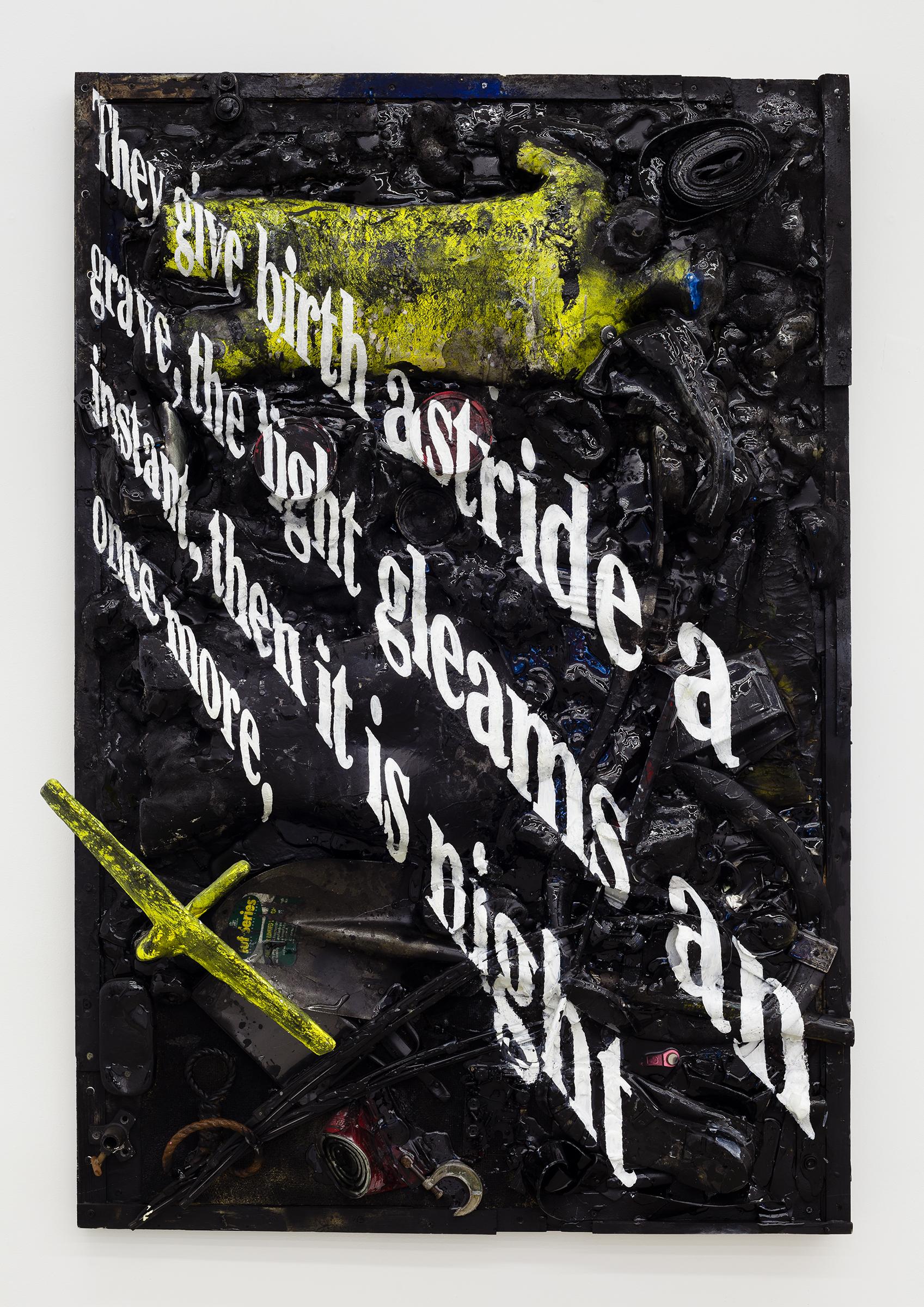 Justin Lieberman, Granular Knowledge, 2014, mixed media,60 x 40 in.