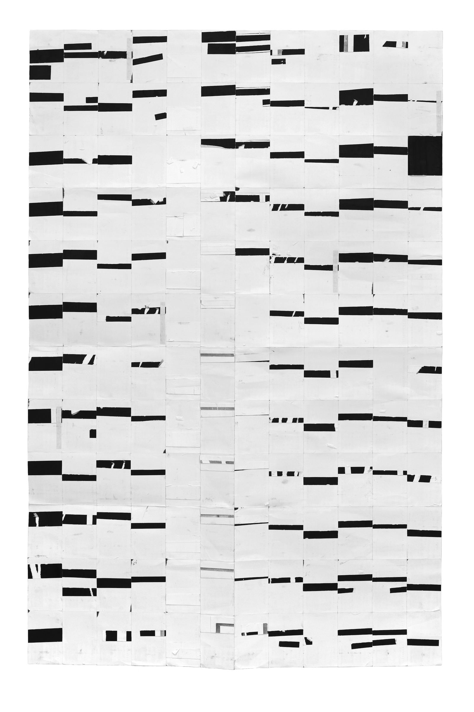 Agnes Lux,   #71 , 2011, postcards, paper and India ink, 66.14 × 41.8 in.