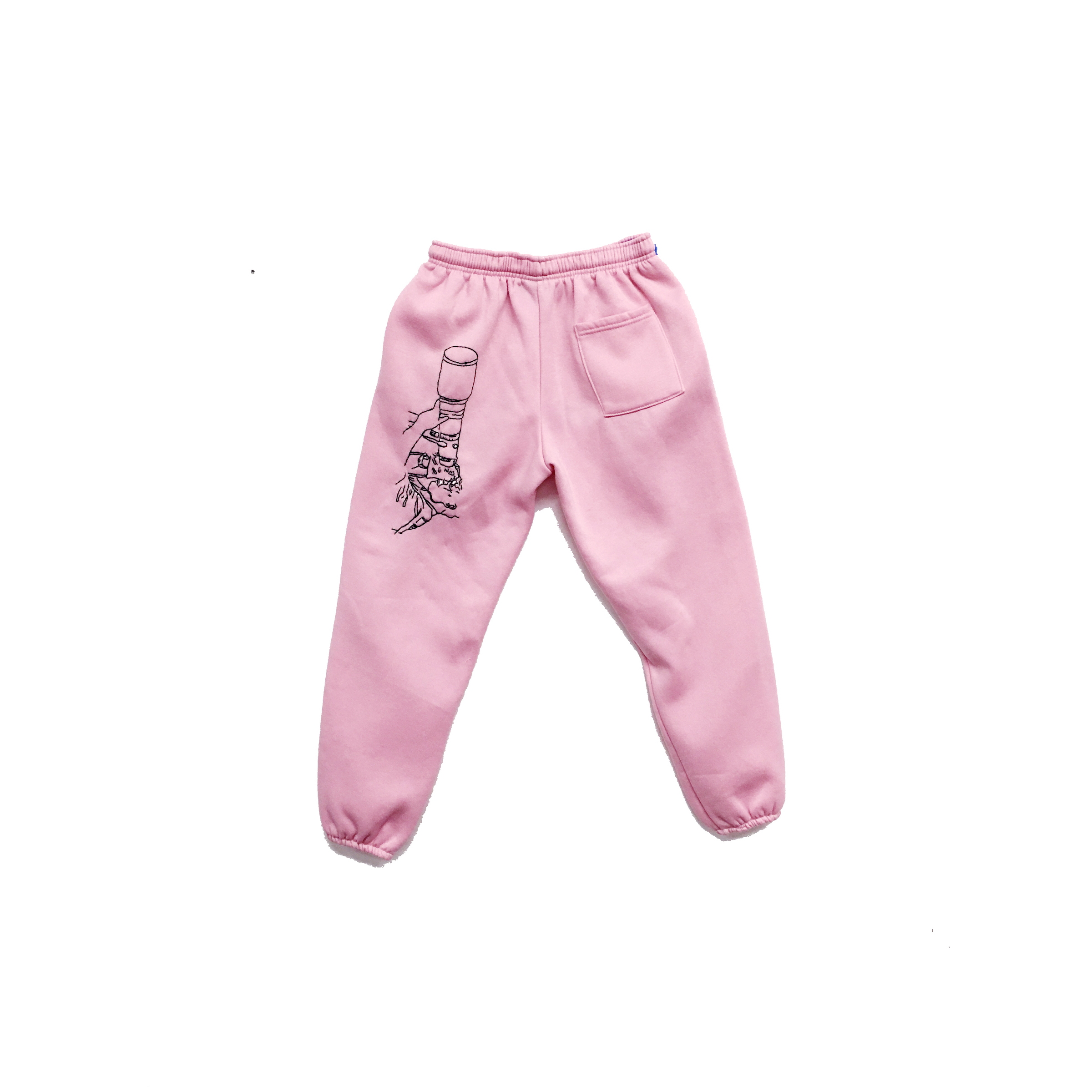 JPW3,    Pink Grunt , 2017, sweat pants, dimensions variable