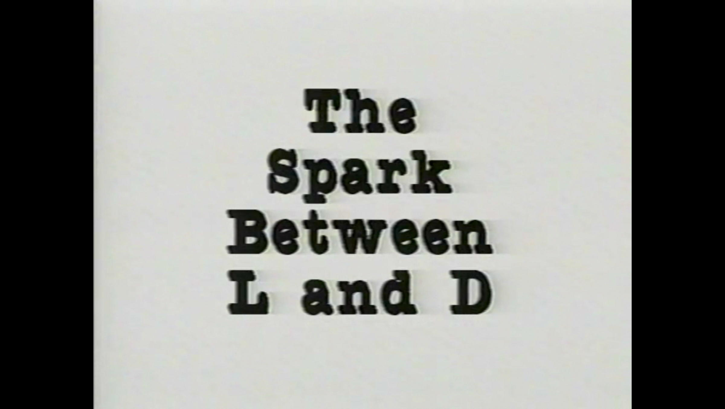 Kathleen White,  The Spark Between L And D  (detail), 1988, performance on VHS transferred to digital video, 11:47 min.