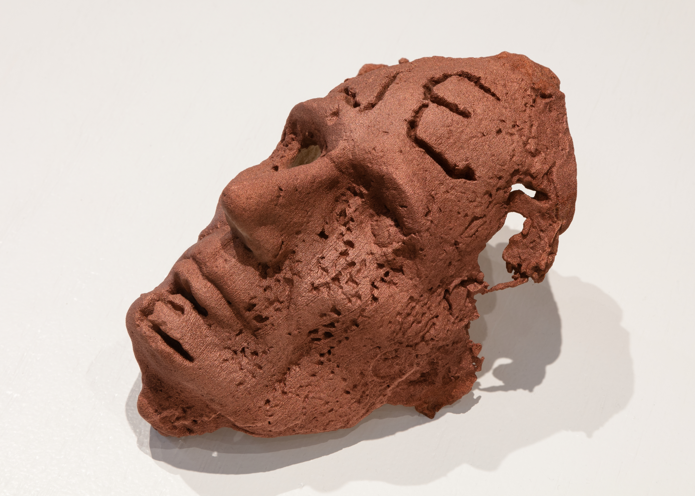 """Jory Rabinovitz,   Component of """"Death of Abel"""" Edition: Life Mask of Abraham Lincoln (Volk) , 2018, 3-D Print, 5.25 x 9 x 6.5 in."""