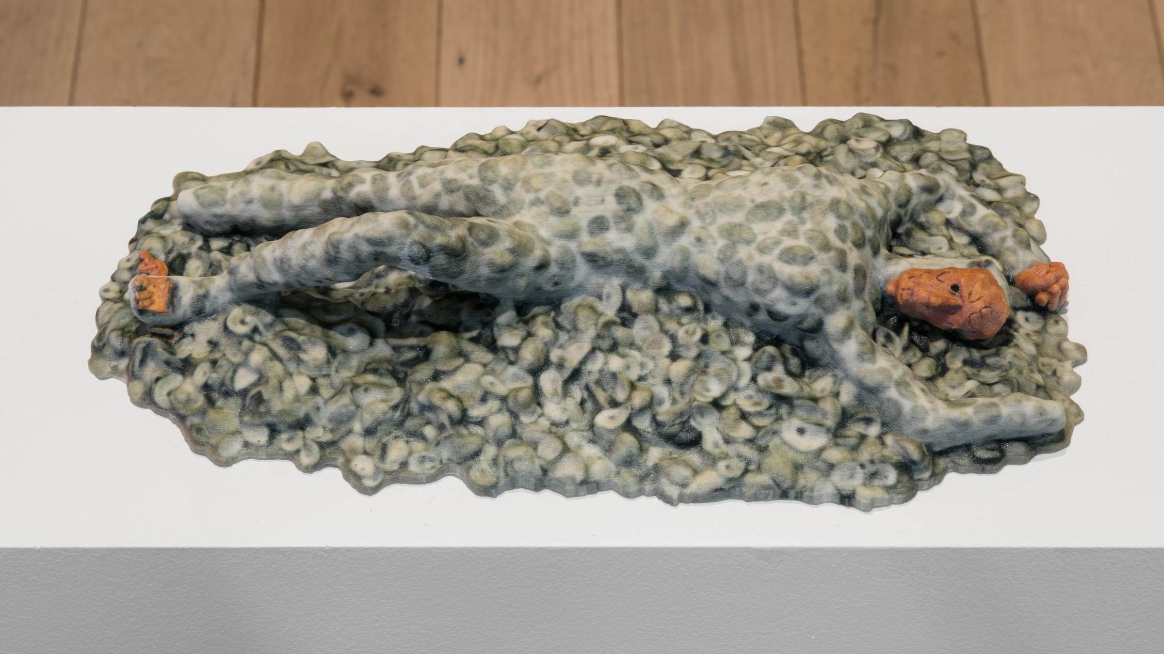 Jory Rabinovitz,   Death of Abel oikos , 2018, 3-D Print, 2 ¾ × 14 ½ × 8 in.