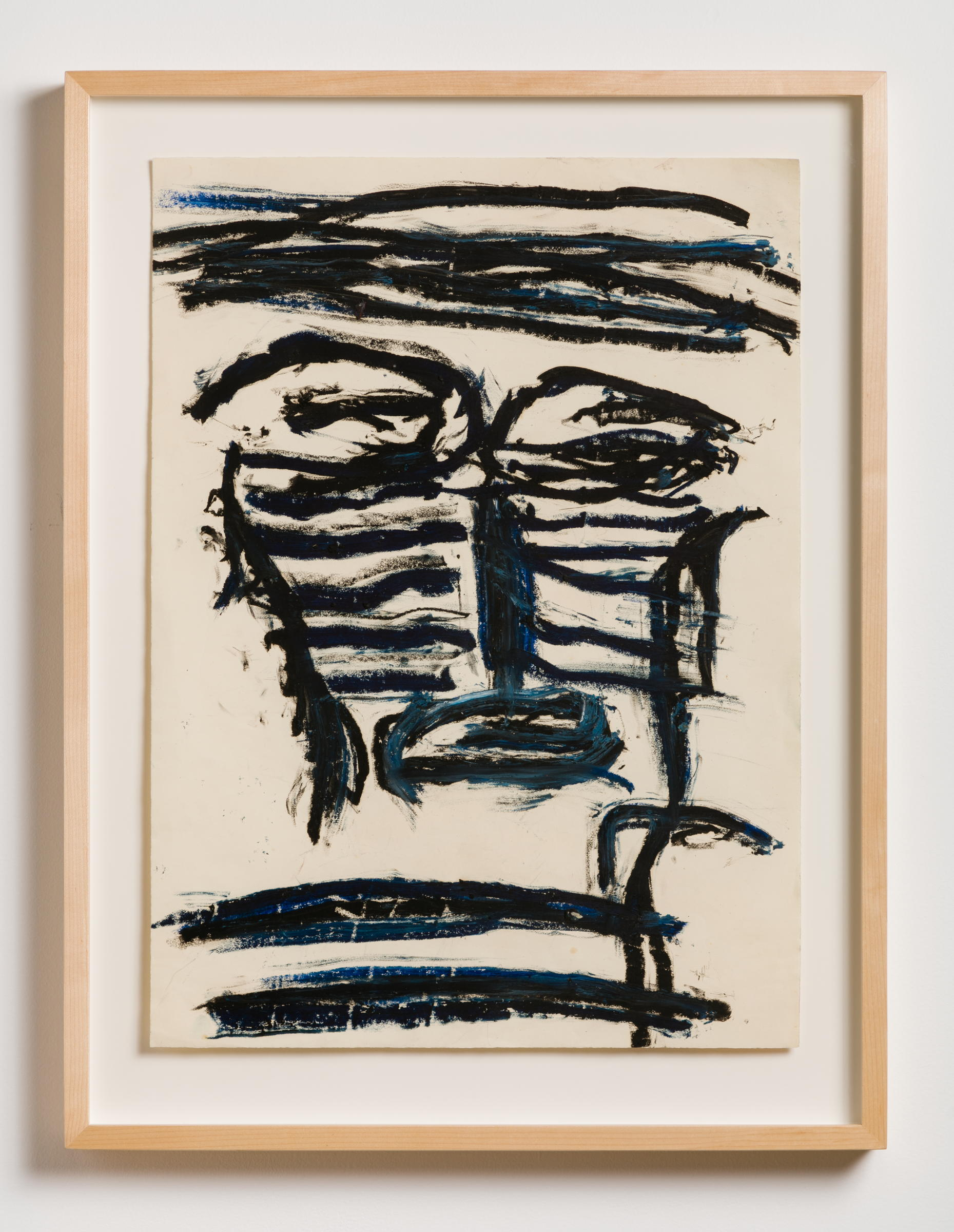 Dan Asher,  Untitled , 1980s, oil stick on paper, 26 × 19 in., 31 ½ × 24 in. (framed)