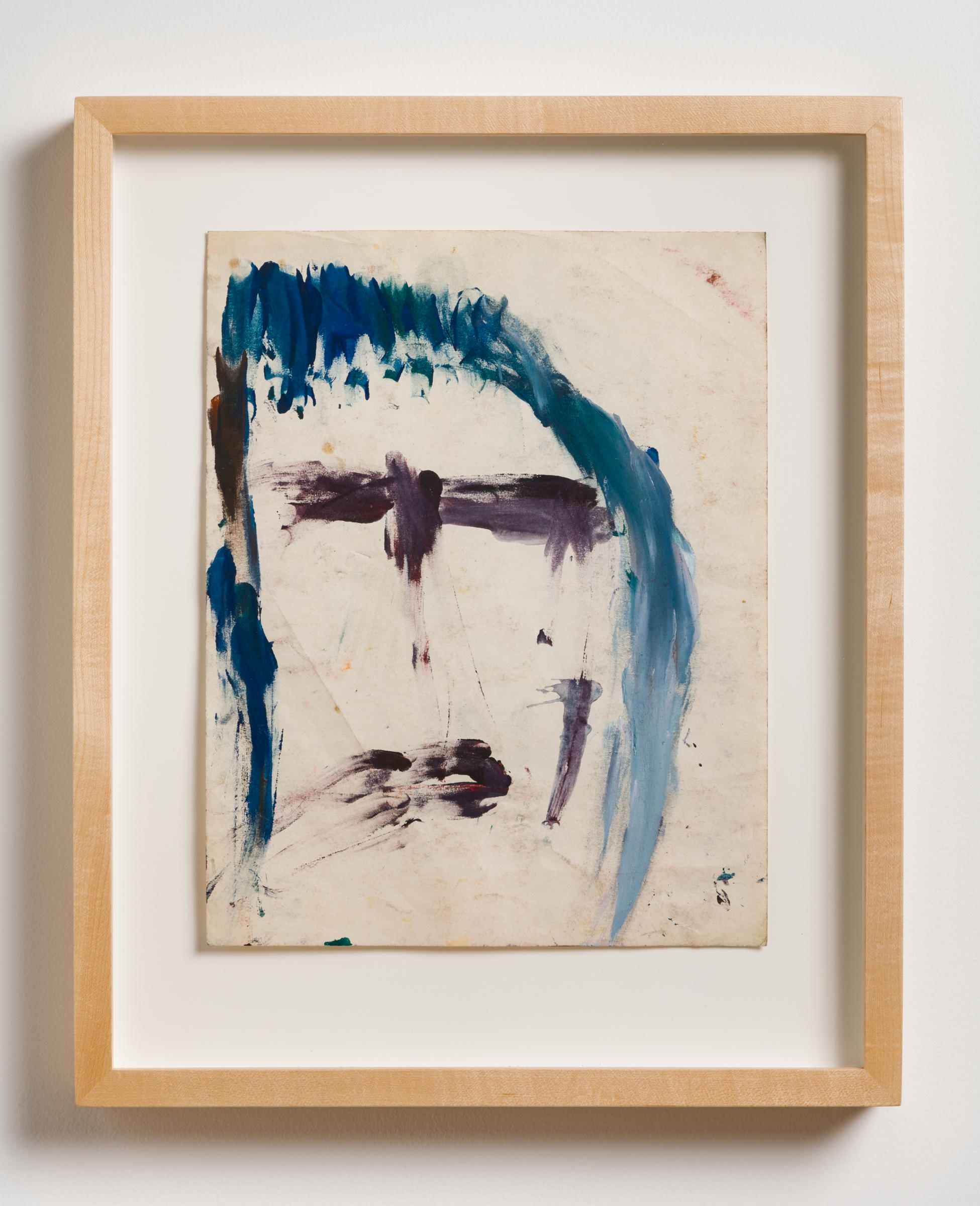 Dan Asher,    Untitled , 1980s, oil stick on paper, 14 × 11 in., 19 ½ × 16 in. (framed)