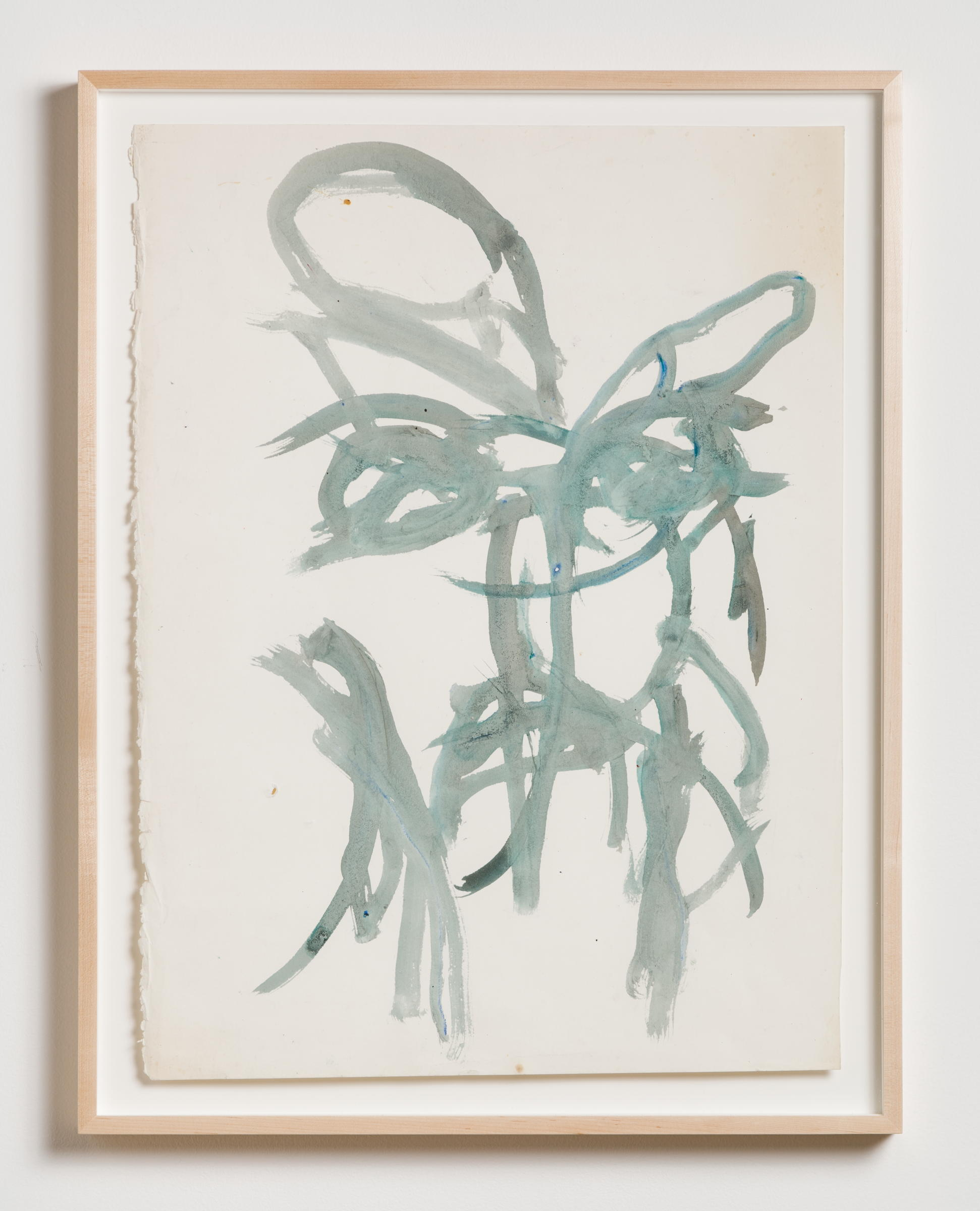 Dan Asher,  Untitled , 1980s, oil stick on paper, 26 × 19 in., 31 ¼ × 24 ¼ in. (framed)