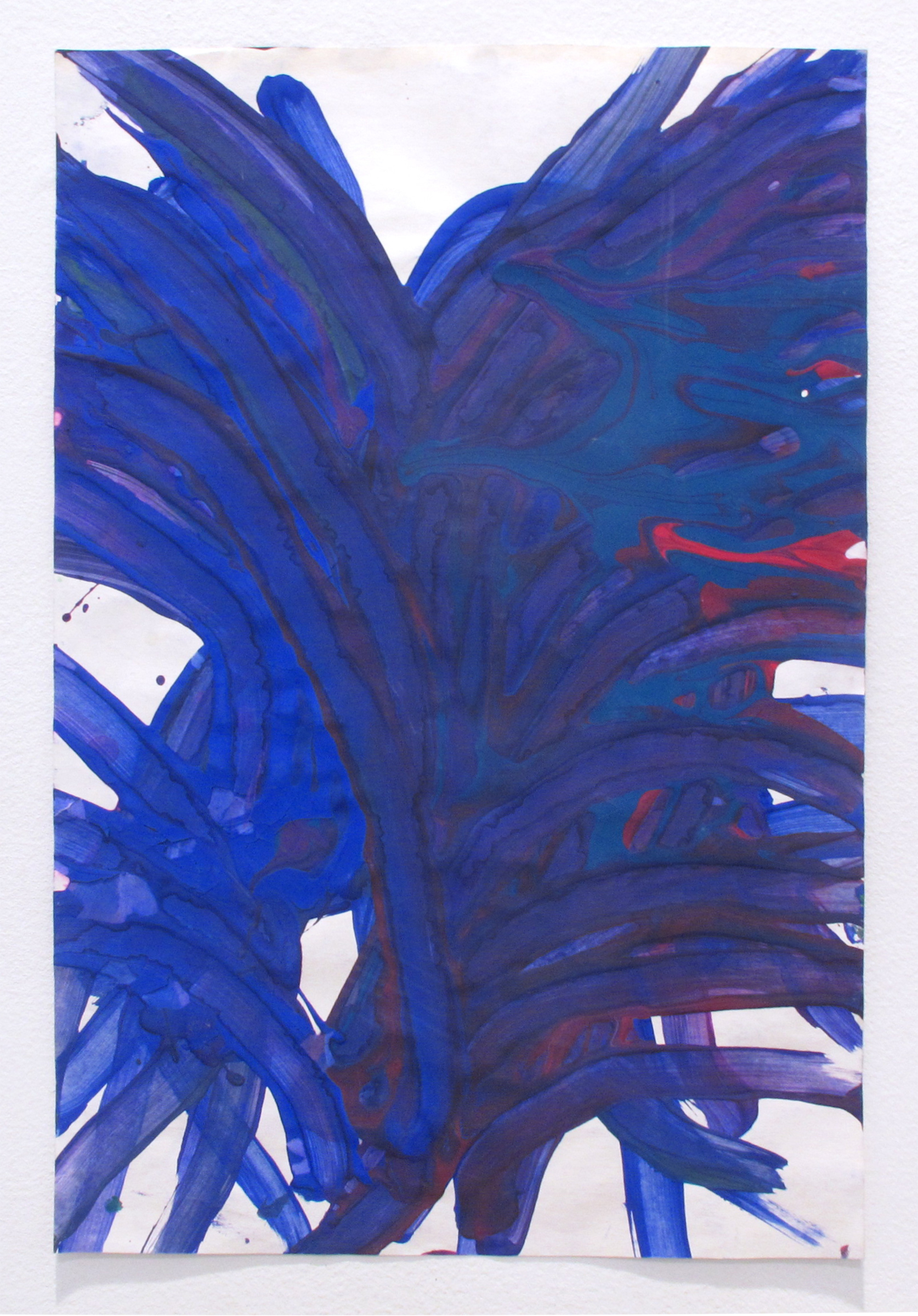 Dan Asher,    Untitled , 2009, tempera on paper, 17 × 12 in., 23 × 16 ⅝ in. (framed)